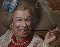 My grandmother smokes a pipe