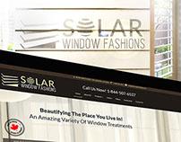 Solar Window Fashions, Branding, Web + Print Design