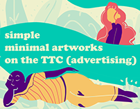Ads on the TTC (Toronto Transit Commission)