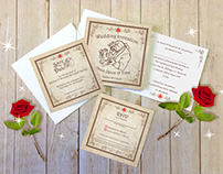 Beauty and the Beast Wedding Stationery Suite
