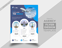 Travel Agency Business Flyer Design Template