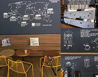 Coffee shop design decorations