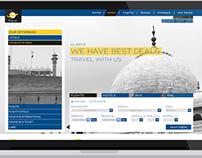 Travel Website Mockup Design