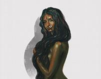 Indian lady | Digital Illustration