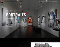 HunterSquaredGallery.com - website design