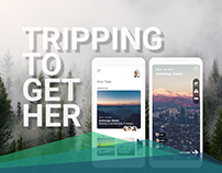 Tripping Together - A Travel Guide App UI
