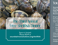 Lower Stillaguamish Shellfish Dinner Postcard Invite