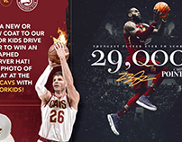 Cavs 2018 Motion Graphics for Digital Zone Screens