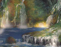 Spray Paint Waterfalls