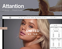 Attantion Website UI Design