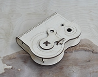 Wooden box with rotary latch