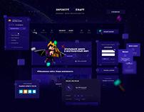Веб-Дизайн для проекта InfinityCraft