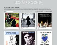 Leonard Cohen site design