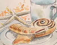 morning breakfast sketch