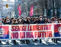 Unitary demonstration in Girona
