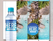 Water label and packaging for Paradise Ingredients.