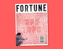 Fortune Magazine Tape Mural