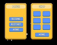 Flat Game UI Design