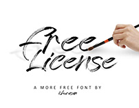 Free License Font - Free for commercial use