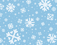 Snowflake Clip Art and Calendar