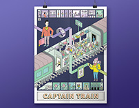 Captain Train - Greetings Poster 2016