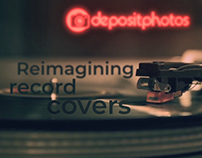 Reimagining record covers. Depositphotos