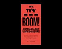 Tick, Tick... Boom! // Poster + Brochure