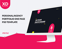 XD Freelancer- Personal/Agency Portfolio One Page PSD