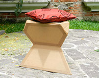Cardboard Stool - Industrial Design