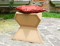Cardboard Stool - Industrial Design