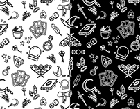 Modern Witch seamless pattern
