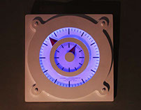 Clock with night lamp