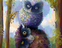 Artemis and Agatha - The all seeing owls