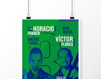 Cartel del concierto de Horacio F. y Víctor F.