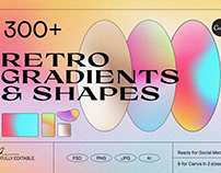 Angeles - Retro Gradients & Shapes