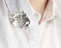 Silver Collar Brooch
