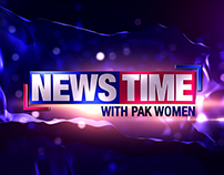 NEWS TIME WITH PAK WOMEN PRGRAM TITLE