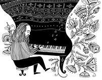 Lubomyr Melnyk .illustration.