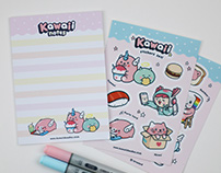Note pad & Stickers set