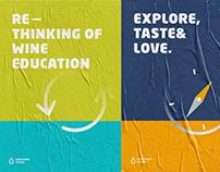 Winevision school brand design