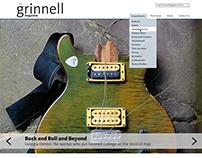 Grinnell Magazine website design