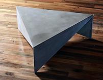 Triangle Concrete Coffee Table