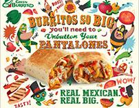 Green Burrito. Posters