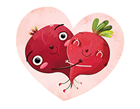 Beets in love | Personal wedding card