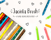Jacinta Brush - A hand-drawn brush font