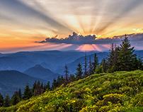 Bosnian sunset