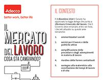 ADECCO -  Il mercato del lavoro  [infographic]