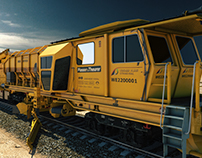 Plasser & Theurer Track Cleaning Vehicle