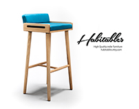 Oak Bar Stool High