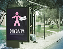CHYBA TY' social poster against discrimination
